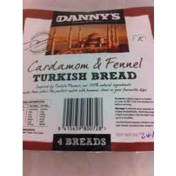 Photo of Dannys Bread Turkish 4 Pack