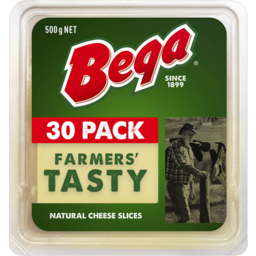 Photo of Bega Farmers Tasty Natural Cheese Slices 500g