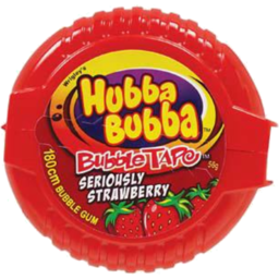 Photo of Hubba Bubba Tape Seriously Strawberry 56g