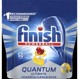 Photo of Finish Quantum Ultimate Lemon Sparkle Dishwashing Tablets 50 Pack