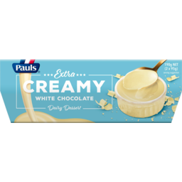Photo of Pauls Extra Creamy White Chocolate Dairy Dessert 2 Pack 190g