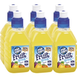 Photo of Pop Tops Fruit Drink 6 Pack Tropical