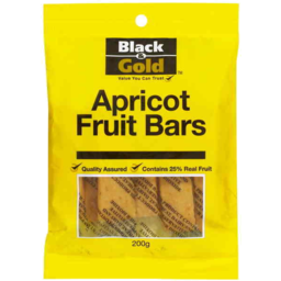 Photo of Black & Gold Apricot Fruit Bars 200gm