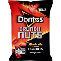 Photo of Doritos Crunch Nuts Flaming Hot Flavoured Peanuts 225g