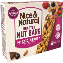 Photo of Nice & Natural Roasted Nut Bar Mixed Berry 6 Pack