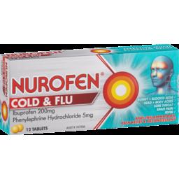 Photo of Nurofen Cold And Flu Tablets Multi-Symptom Relief 200mg Ibuprofen 12 Pack