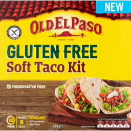 Photo of Old El Paso G/F Kit Soft Taco 418gm