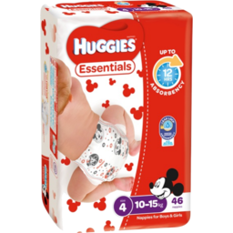 Photo of Huggies Essentials Nappies, Unisex, Size 4 Toddler (10 - 15kg), 46 Nappies