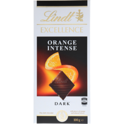 Photo of Lindt Excellence Dark Orange 100g