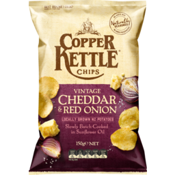 Photo of Copper Kettle Chips Vintage Cheddar & Red Onion 150g