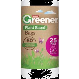 Photo of Multix Greener Plant Based Kitchen Tidy Bag Mini 25pk