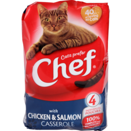 Photo of Chef Cat Food Pouch Chicken & Salmon 4 Pack