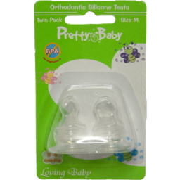 Photo of Pretty Baby Orthodontic Silicone Nipples 2pk