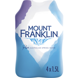 Photo of Mount Franklin Spring Water Multipack Bottles 4x1.5l