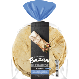Photo of Bazaar Lebanese Bread White 6pk