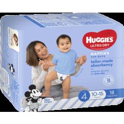 Photo of Huggies Ultra Dry Nappies Toddler Boy 18pk