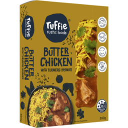 Photo of Ruffie Rustic Foods Butter Chicken With Turmeric Basmati 350g