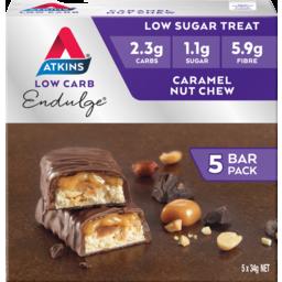 Photo of Atkins Endulge Caramel Nut Chew Bars 34g 5pk