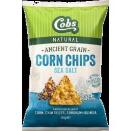 Photo of Cobs Gluten Free Ancient Grain Sea Salt Corn Chips 130g