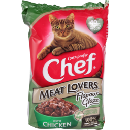 Photo of Chef Cat Food Pouch Glaze Chicken 4 Pack