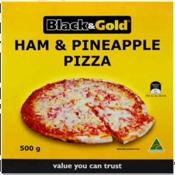 Photo of Black & Gold Pizza Ham & Pineapple 500g