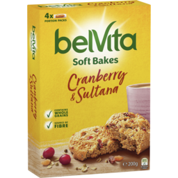 Photo of Belvita Soft Bakes Cranberry & Sultana Biscuits 4x200g