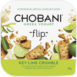 Photo of Chobani Flip Key Lime Crumble Greek Yogurt 140g