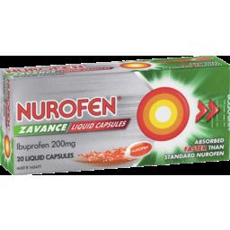 Photo of Nurofen Zavance Fast Pain Relief Liquid Capsules 200mg Ibuprofen 20 Pack