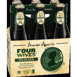 Photo of James Squire Four Wives Pilsener 6 X 345ml Bottle Basket
