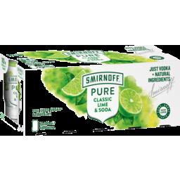 Photo of Smirnoff Pure Lime And Soda Premix Vodka 330ml 10 Pack
