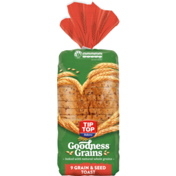 Photo of Tip Top Bread Goodness Grains 9 Grain & Seed Toast 700g
