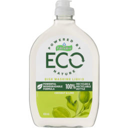 Photo of Palmolive Eco Antibacterial Dish Washing Liquid Powerful Biodegradable Formula Coconut & Lime 450ml