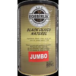 Photo of EGEBIRLIK OLIVES BLK JUMBO 6x800G