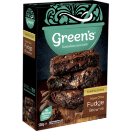 Photo of Green's Triple Choc Fudge Brownie 500g