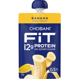 Photo of Chobani Fit Banana Greek Yogurt Pouch 140g