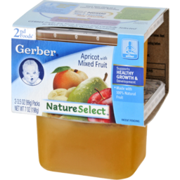 Photo of Gerber Nature Select 2nd Foods Apricot With Mixed Fruit - 2