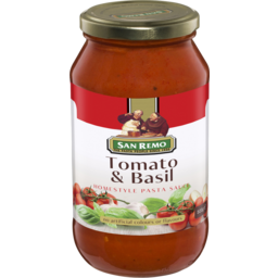 Photo of San Remo Tomato & Basil Pasta Sauce 500g
