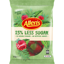 Photo of Allen's 25% Less Sugar Strawbs 170g
