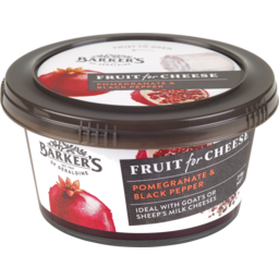 Photo of Barkers Fruit For Cheese Fruit Paste Pomegranate & Black Pepper 210g