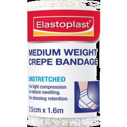 Photo of Elastoplast Medium Weight Crepe Bandage Unstretched 7.5cm X 1.6m