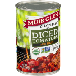 Photo of Muir Glen - Diced Tomatoes Fire Roasted - 411g