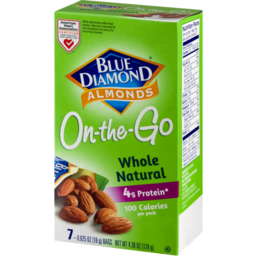 Photo of Blue Diamond Almonds On-The-Go Whole Natural - 7 Ct