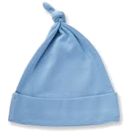Photo of Baby Hat Blue Knot Knitted