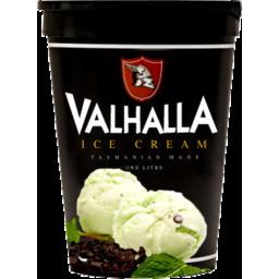 Photo of Valhalla Ice Cream Peppermint Choc Chip 1L