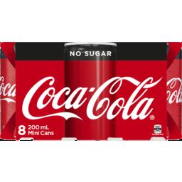 Photo of Coca Cola No Sugar 8x200ml