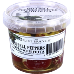 Photo of The Olive Branch Mini Bell Peppers Fetta 335g