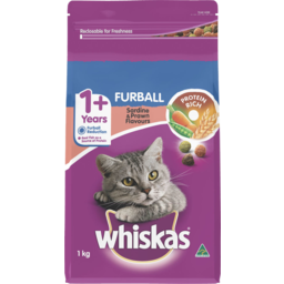 Photo of Whiskas Furball Adult Sardine Prawn Tuna & Whitebait  1 Kg