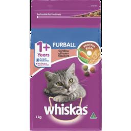 Photo of Whiskas Furball 1+ Years Dry Cat Food Sardine & Prawn 1kg