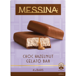 Photo of Peters Messina Choc Hazelnut Gelato Bar 4 Pack 400ml