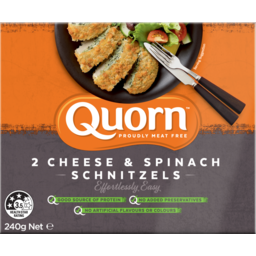 Photo of Quorn Cheese /Spinach Schnitzel 240gram 240